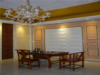 leather wall panel factory(Showroom)