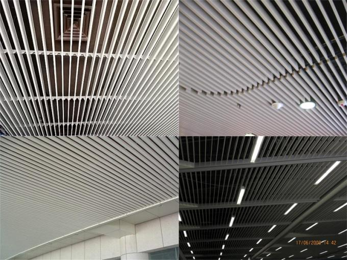 G - Shaped Aluminum False Ceiling Metal Strip Ceiling 0.6 - 1.2mm Thickness