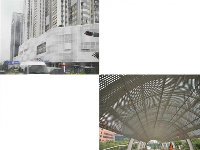 High Strength Galvanised Corrugated Curved Roof Panels Aluminum Facade Panels