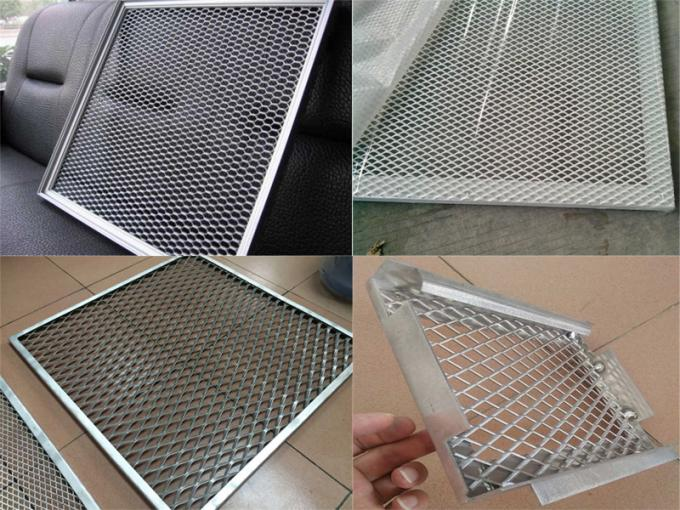 Aluminium expanded metal mesh panel wall decoration panels 5-20um Wire Diameter