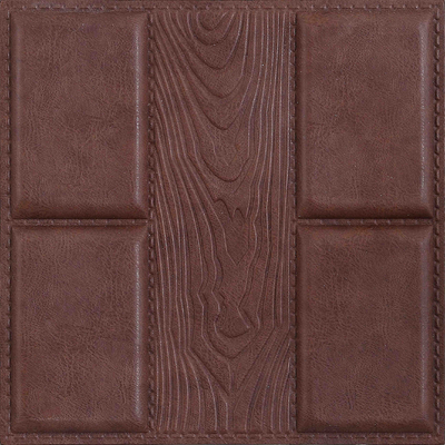 China Quality-assured Beautiful decorative Factory price 3D leather wall panel supplier