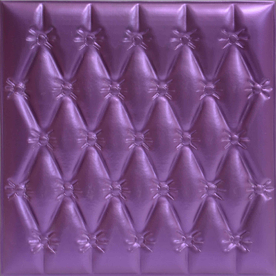 China Moisture - Proof 3D Leather Wall Panels For Interior Decoration supplier