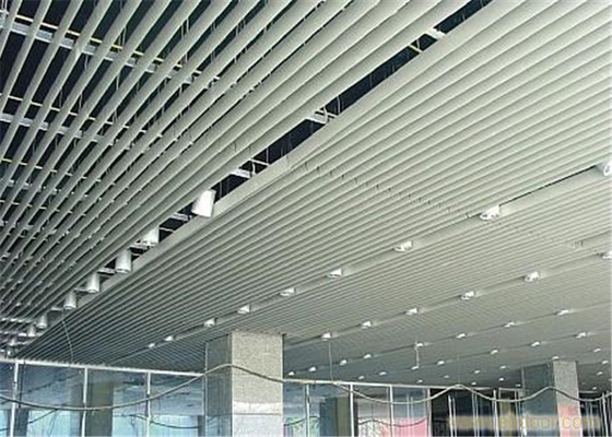China Customized Aluminium Strip Ceiling For Supermarket / Railway Station supplier