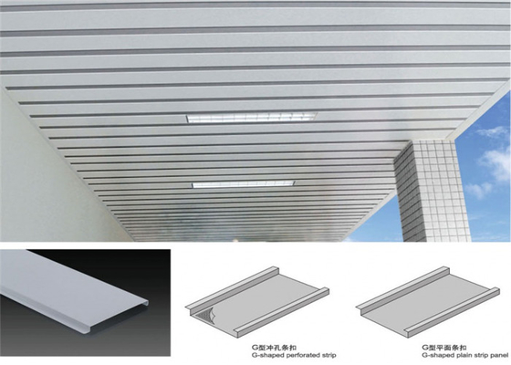 China Anti Corrosion Metal False Ceiling , Suspended Metal Ceiling Easy Install supplier