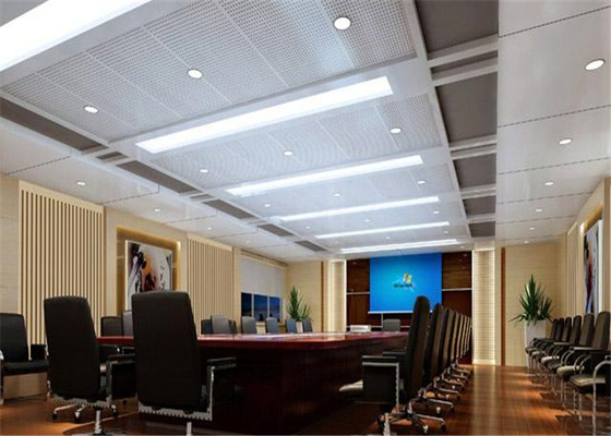 China Fireproof Aluminum Suspended Ceiling Tiles Acoustical For Office / Conference Room supplier