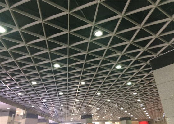 China 10 / 15 / 20 Mm Width Open Cell Aluminum Ceiling Panel For Hall Artistic Decoration supplier