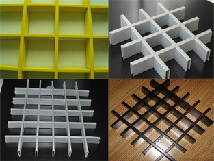 China Customized Fabrication Open Cell Ceiling Tiles /  Aluminum Metal Grid Ceiling supplier