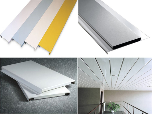 China Aluminium Alloy Metal Strip Ceiling with Good Weather Resistance supplier