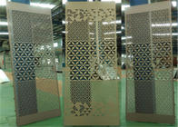 Aluminum Stretched Perforated Exterior Decorative Panels For Supermarket / Subway
