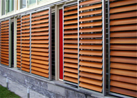 External Aluminium Louvres , Aluminium Shade Screens With Artificial Solid Surface