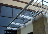 Scrubbable Aluminium Louvre Awnings Outdoor Sun Shade Horizontal Pattern