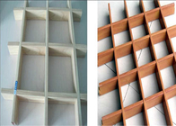 0.4 - 0.6 Mm Thickness Aluminum Open Cell Ceiling / Aluminum Grille Ceiling Tile