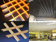 Fireproof ,  Moisture - Proof Open Grid Ceiling System For Indoor