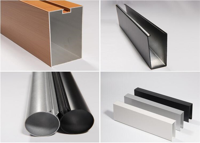 Powder Coating Metal Baffle Ceiling Tiles Building Materials Easy Installing