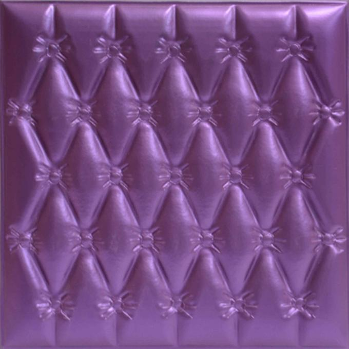 Moisture - Proof 3D Leather Wall Panels For Interior Decoration