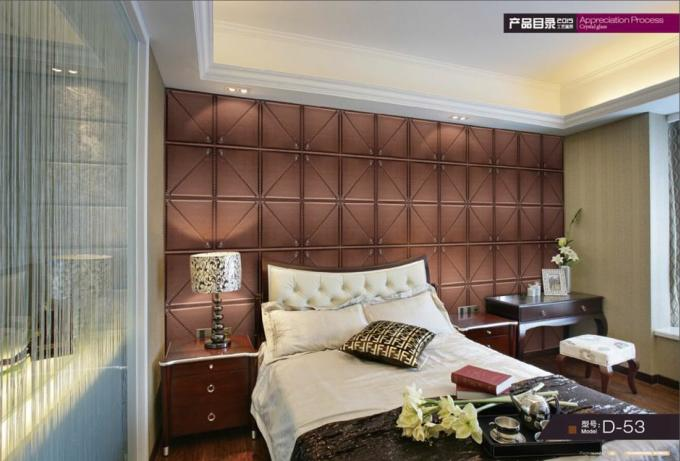 Interior Decorative Wall Panels For Living Room , Embossed Wall Panels Lightweight