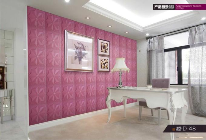 Eco-friendly Customized color Luxury soft leather design room decor 3d wall stickers
