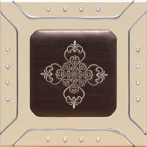 Professional Sculpted Mdf  leather Wall Panels , Decorative Interior Panels 400*400mm