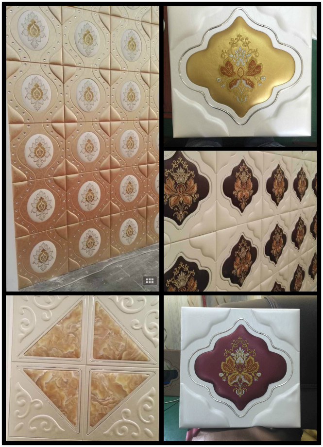 Moisture - Proof 3D Leather Wall Panels For Home / Restaurants