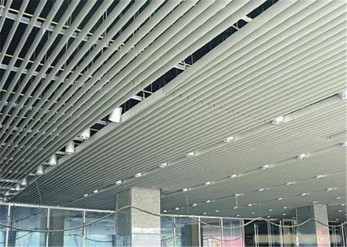 Soundproofing Ceiling Tiles , Aluminium Suspended Ceiling 0.8mm Thickness