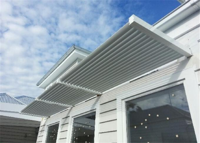 Architectural Sun Shade Louvers With Fabric / PVC / Bamboo / Wood Material