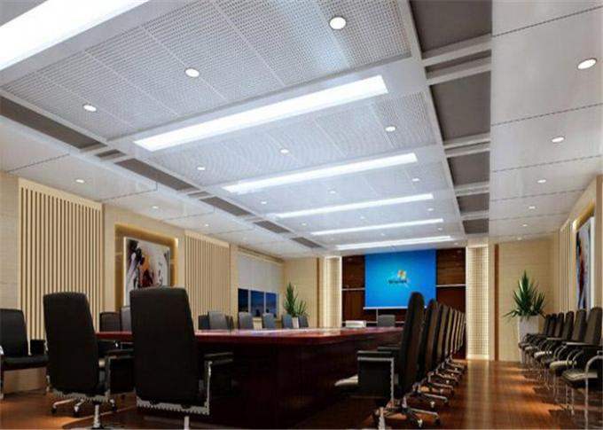 Customized Anti Corrosion Hanging Ceiling Tiles With Square \ Bevel Edge