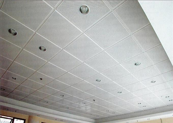 White Suspended Ceiling Tiles Heat Insulation For Office Building