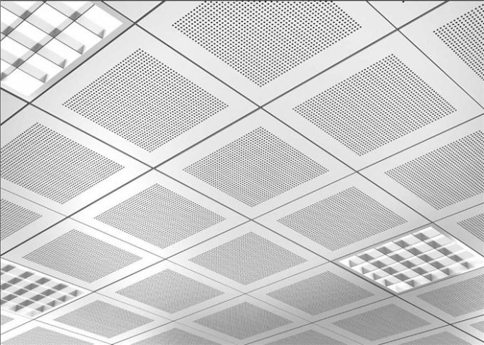 Durable Perforated Metal Acoustic Panels , Perforated Aluminum Plate Na-View