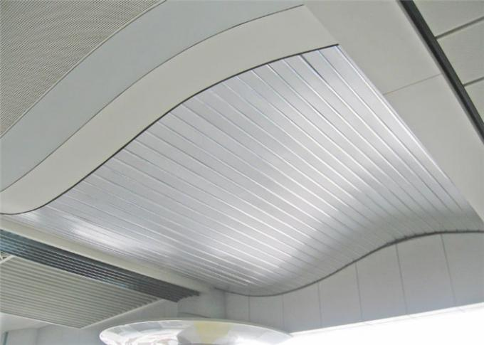 S G Shaped Aluminium Strip Ceiling / Acoustic Suspended Ceiling