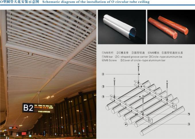 Sound Absorbing Aluminum Metal Baffle Ceiling For Commercial Building
