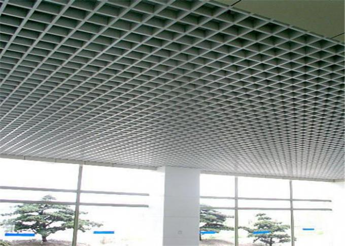 Na-View Powder Coating Open Cell Ceiling Square Shape For Airports