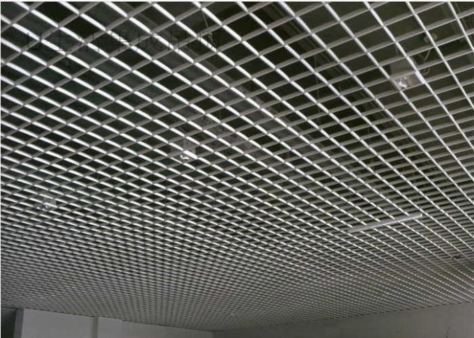 Heat Insulation Open Cell Ceiling With Wooden / Stone Color Coating