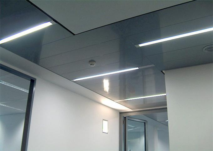 Integrated Suspended Aluminum Ceiling Sheet Roll Coated Commercial Ceiling Tiles