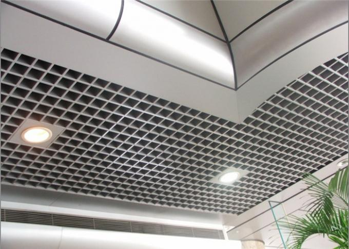 Perforated Aluminum Grid Open Cell Ceiling Tiles With Fireproof Metal Material
