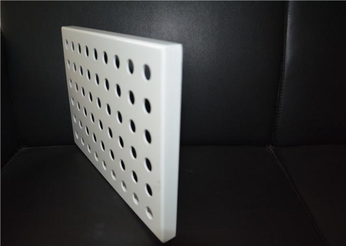 Aluminum Round Hole Architectural Perforated Metal Panel / Perforated Metal Sheet